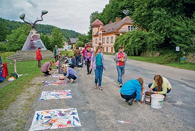 Collective creation in Podhradí nad Dyjí.